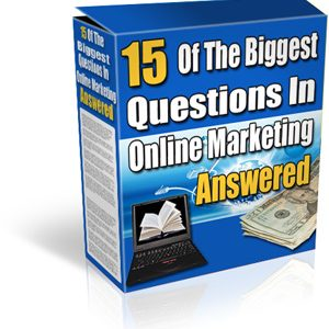 eBook: 15 Of The Biggest Questions In Online Marketing