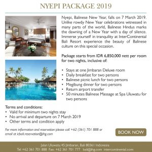 InterContinental Bali – Nyepi Special Package