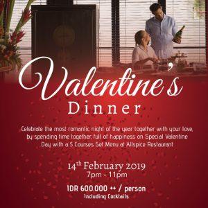 Valentine's Dinner @ Royal Santrian Bali